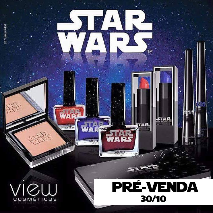 Pré-venda coleção de makes Star Wars!